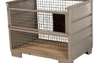 Industriegitterbox, Holzboden